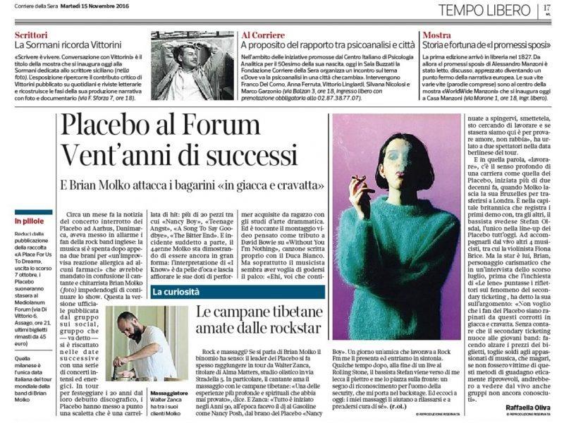 Corriere della sera 15 novembre 2016