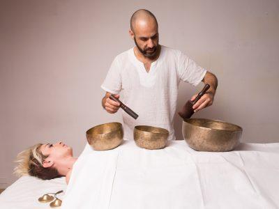 Massaggio con le campane tibetane