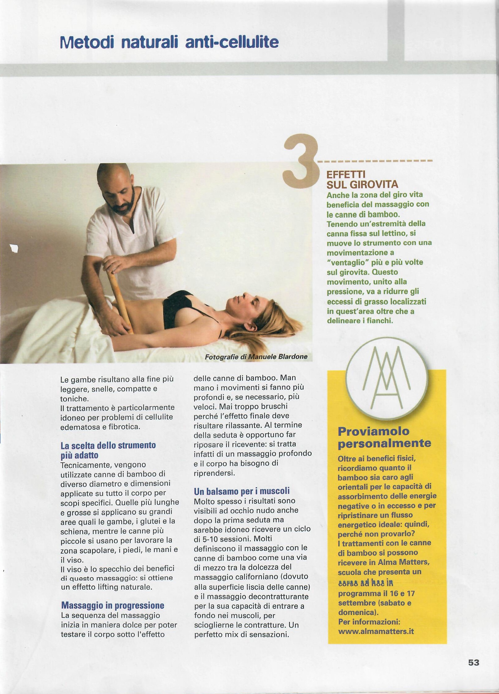 L'altra medicina n° 64 - marzo 2017 - Massaggio con i bambù - Foto di Manuele Blardone.2
